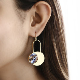 Disc Statement Earrings - REFASH