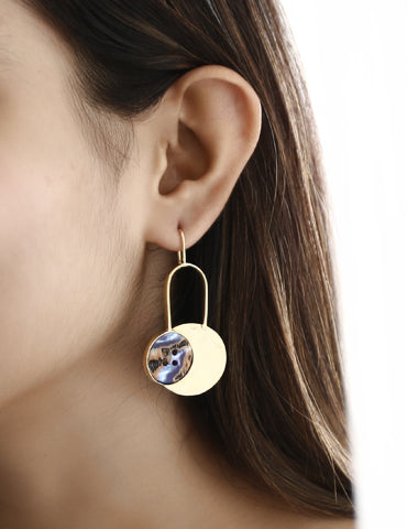 Disc Statement Earrings