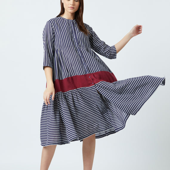 Seville Blue Stripe Dress