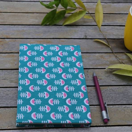 Sea Green Block Print Notebook