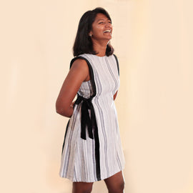 Black and White Tie Dress - REFASH