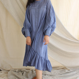 Jane Iris Blue Dress - REFASH