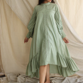 Jane Mint Green Dress - REFASH