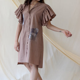 Destiny Dress Beige - REFASH