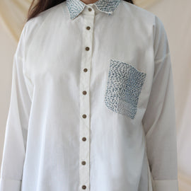 Essence Shirt Ivory - REFASH