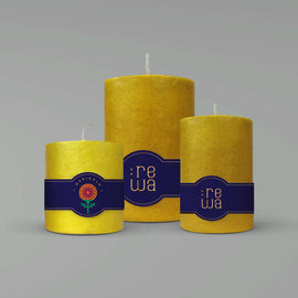 Marigold Scented Pillar Candle - Box of 3