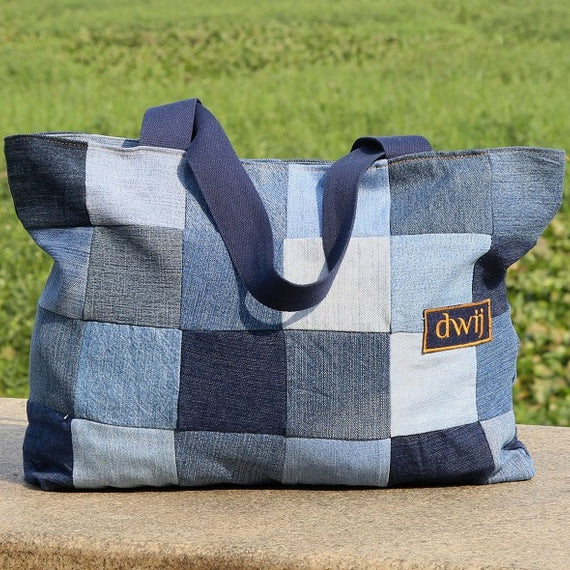 Chequered Tote