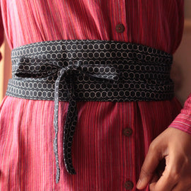 Dance with Circles Obi Belt - REFASH