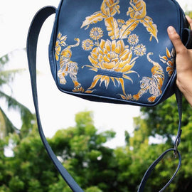 Cerulean Jungle Sling Bag