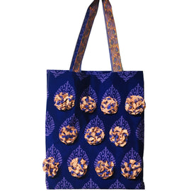 Embellished Tote Bag - Blue - REFASH