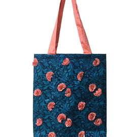 Embellished Tote Bag - Turquoise