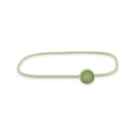 Square Bangle with Circle Charm - Light Green