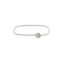 Square Bangle with Circle Charm - Gray