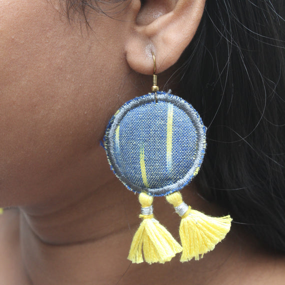Ikat Tassel Earrings - REFASH