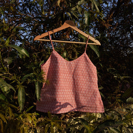 Pink Champagne Upcycled Crop Top