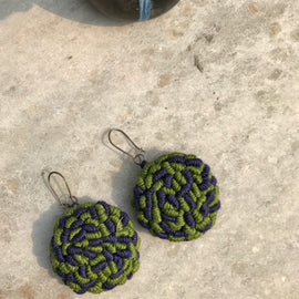 Rani Didi Earrings Green - REFASH