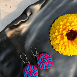 Rani Didi Earrings Fuschia