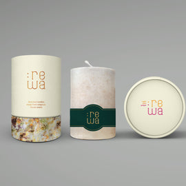 Large Jasmine Scented Pillar Candle