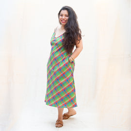 Madras Checks Summer Slip Dress