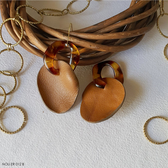 Abr Earrings - Tan