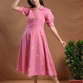 Anika Puff Sleeves Dress