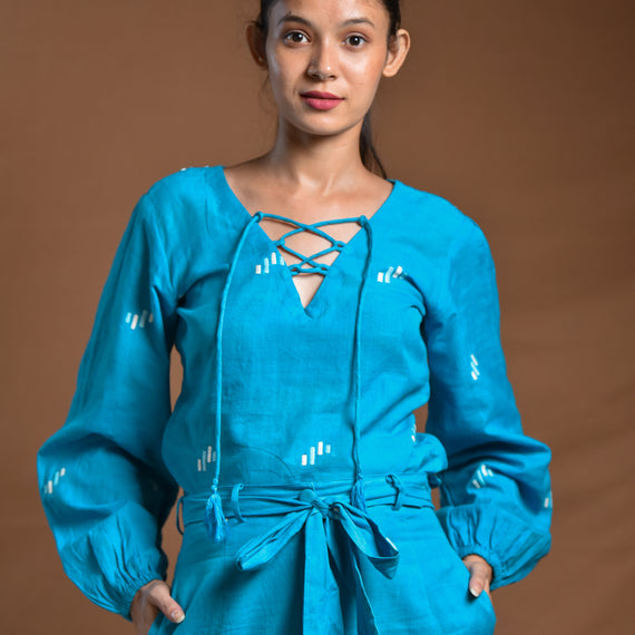 Aakarshan Balloon Sleeves Top
