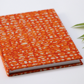 Orange Batik Print Notebook