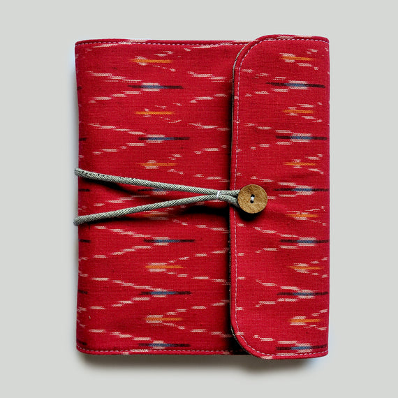 Ikat Organiser Book - Red