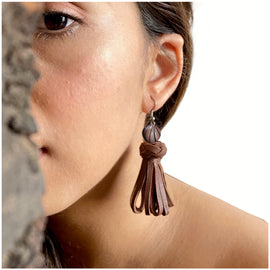 Rhosyn Earrings - Tan