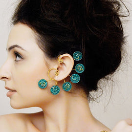 5 Coin Back Earcuffs