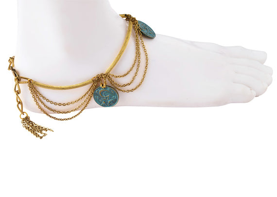 Hanging Coin Anklet