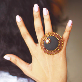Black and Brown Beauty Ring