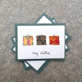 Upcycled Christmas Cards with Gifts
