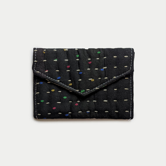 Dotted Black Wallet