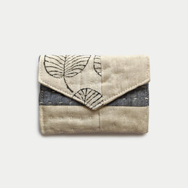 Cream and Grey Wallet