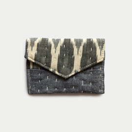 Grey and Off White Wallet
