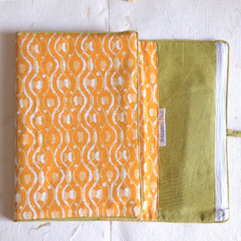 Yellow Block Print Multipurpose Case