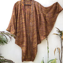 ReSaree Microfloral Ginger Shrug