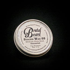 Stache Wax 85 Medium Firm Moustache Wax - Brutal Beard