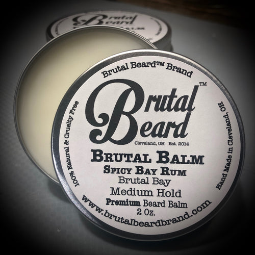Spicy Bay Rum Beard Balm - Brutal Beard