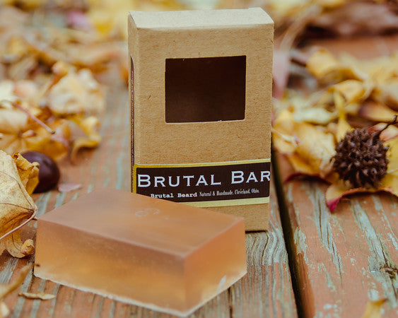 Sandalwood Amber Brutal Bar Glycerin Soap