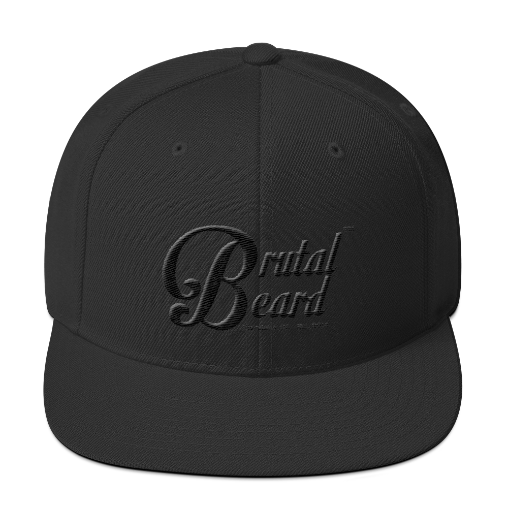Brutal Beard™ Official BLACKOUT Black on Black Embroidered Snapback