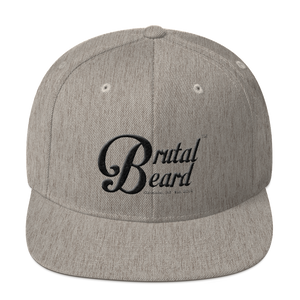 Brutal Beard™ Official Heather Grey Embroidered Snapback