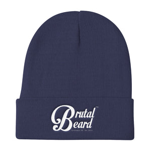 Brutal Beard™ Official Embroidered Knit Beanie - Color Options