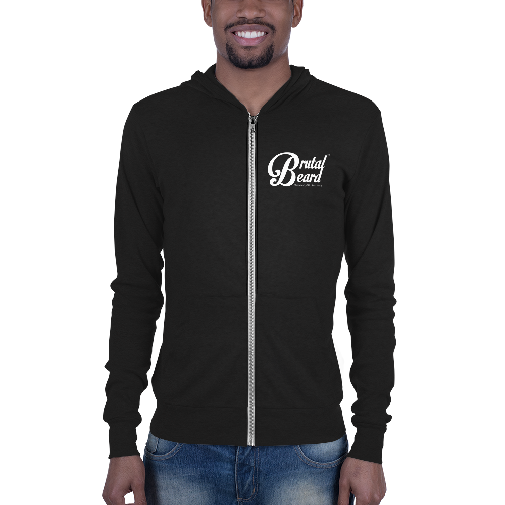 Brutal Beard™ Official Unisex Full-Zip Lightweight Hoodie - Color Options