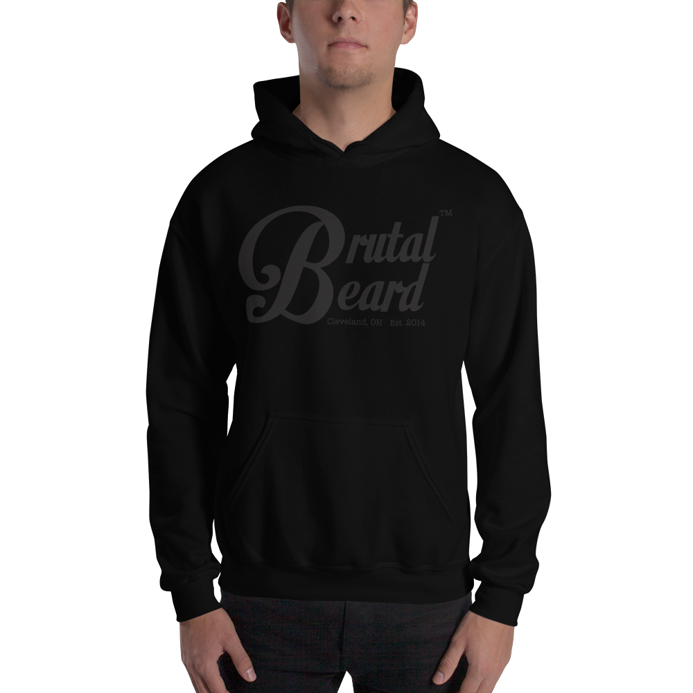 Brutal Beard™ Official BLACKOUT Black on Black Hooded Sweatshirt