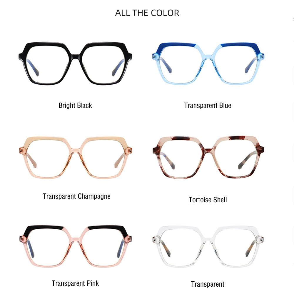Believe - Fashion Blue Light Blocking Computer Reading Gaming Glasses - Transparent Champagne