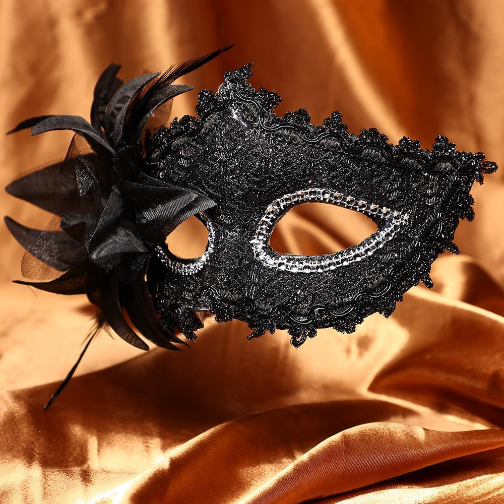 2 Pcs Female Side Flower Masquerade Masks
