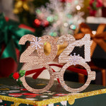 2 Pcs Christmas Decoration Eyewears-2021 New Year
