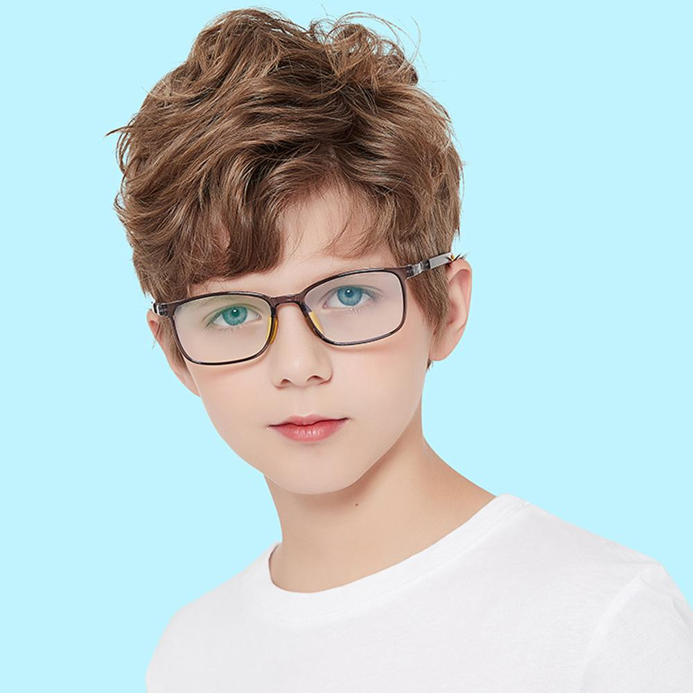 Clever - (Age 5-13)Children Non-slip Blue Light Blocking Glasses-Transparent Light Grey